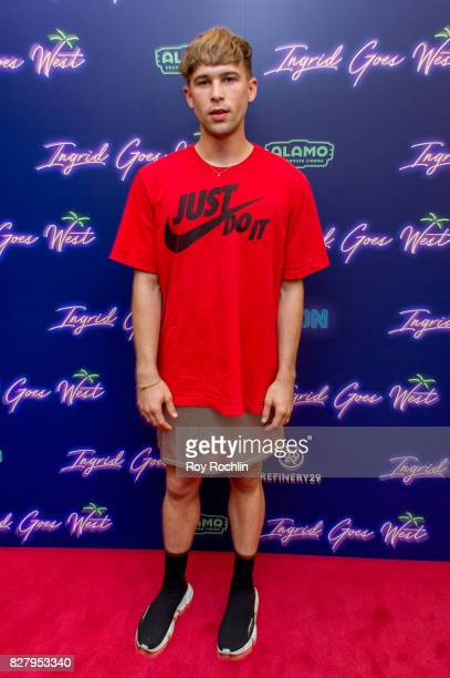 Tommy Dorfman attends The New York premiere of 'Ingrid Goes West' hosted by Neon at Alamo Drafthouse Cinema on August 8 2017 in the Brooklyn borough...