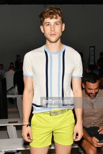 Tommy Dorfman attends the Parke Ronen Spring 2018 show on July 12 2017 in New York City