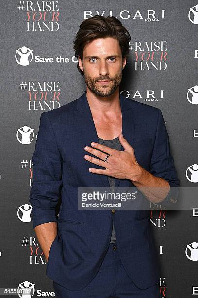 Tommy Dunn attends the Bvlgari and Save The Children Unveiling of #RaiseYourHand Campaign at Maxxi Museum on July 8 2016 in Rome Italy