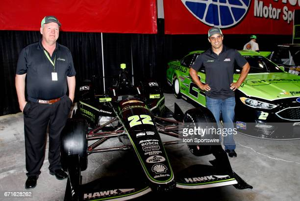 Tommy Fitzgerald Sr and Juan Pablo Montoya announce sponsorship of Fitzgerald Glider Kits for Juan in a Penske car for the Indy 500 on April 22 2017...