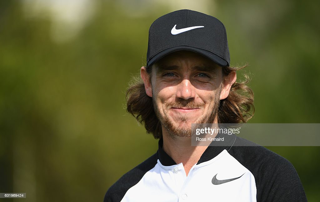 Tommy Fleetwood of England pictured during the pro-am event prior to the Abu Dhabi HSBC Championship at Abu Dhabi Golf Club on January 18, 2017 in Abu Dhabi, United Arab Emirates.