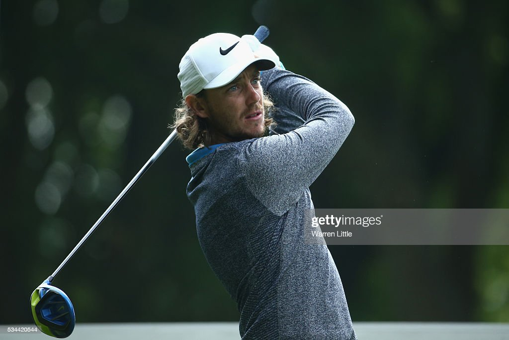 <a gi-track='captionPersonalityLinkClicked' href=/galleries/search?phrase=Tommy+Fleetwood&family=editorial&specificpeople=4450351 ng-click='$event.stopPropagation()'>Tommy Fleetwood</a> of England tees off on the 3rd hole during day one of the BMW PGA Championship at Wentworth on May 26, 2016 in Virginia Water, England.