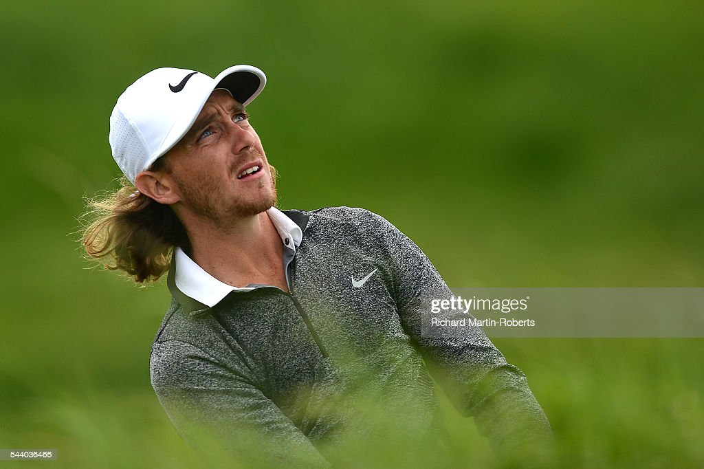 <a gi-track='captionPersonalityLinkClicked' href=/galleries/search?phrase=Tommy+Fleetwood&family=editorial&specificpeople=4450351 ng-click='$event.stopPropagation()'>Tommy Fleetwood</a> of England watches his 2nd shot on the 12th hole during the second round of the 100th Open de France at Le Golf National on July 1, 2016 in Paris, France.