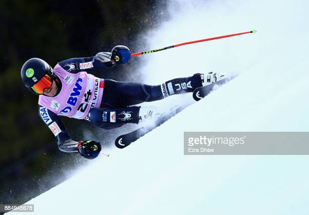 Tommy Ford of the United States competes in the first run of the Birds of Prey World Cup Giant Slalom race on December 3 2017 in Beaver Creek Colorado