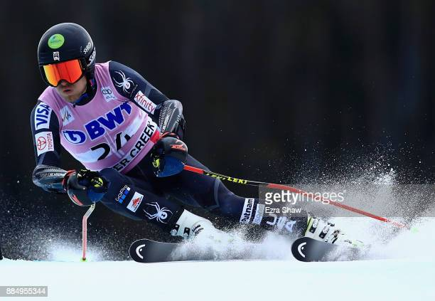 Tommy Ford of the United States competes in the second run of the Birds of Prey World Cup Giant Slalom race on December 3 2017 in Beaver Creek...