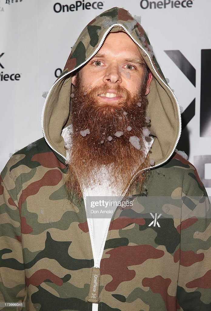 Tommy Franklin poses during the OnePiece onesie Australian launch at the Bucket List at the Bondi Beach on July 19, 2013 in Sydney, Australia.