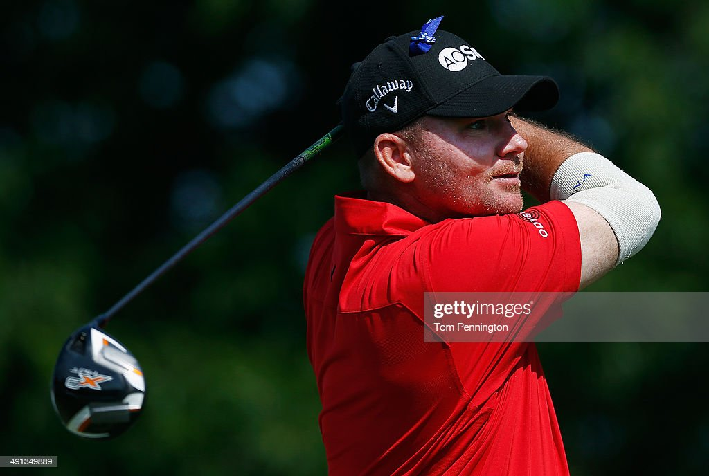 Tommy Gainey hits a tee shot during Round Two of the HP Byron Nelson Championship at the TPC Four Seasons Resort on May 16 2014 in Irving Texas