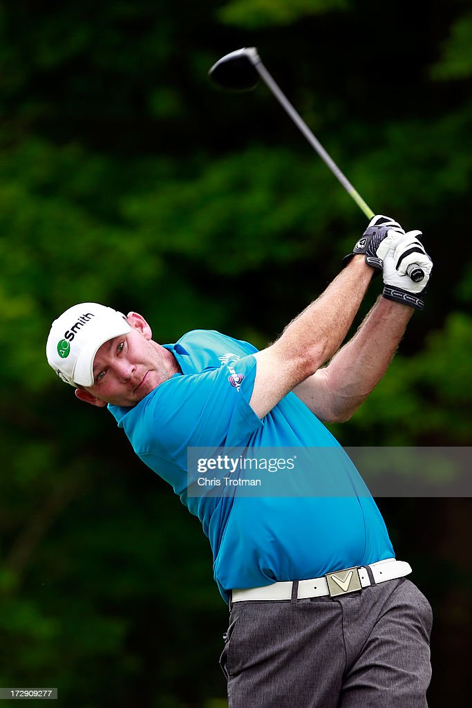 <a gi-track='captionPersonalityLinkClicked' href=/galleries/search?phrase=Tommy+Gainey&family=editorial&specificpeople=4274633 ng-click='$event.stopPropagation()'>Tommy Gainey</a> hits his tee shot on the 17th hole during round two of the Greenbrier Classic at the Old White TPC on July 5, 2013 in White Sulphur Springs, West Virginia.