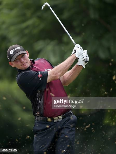 Tommy Gainey of the USA hits a shot during the fourth round of the 2015 Brasil Champions Presented by HSBC at the Sao Paulo Golf Club on March 15...