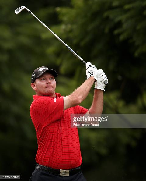 Tommy Gainey of the USA hits a shot during the second round of the 2014 Brasil Champions Presented by HSBC at the Sao Paulo Golf Club on March 13...