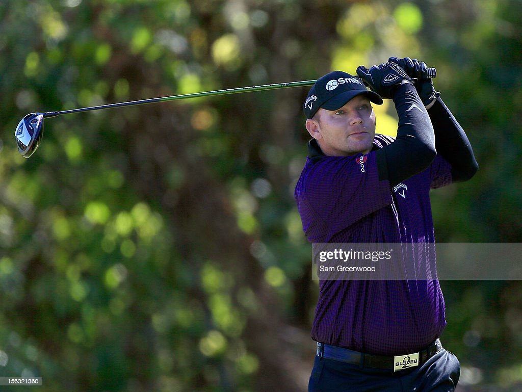 <a gi-track='captionPersonalityLinkClicked' href=/galleries/search?phrase=Tommy+Gainey&family=editorial&specificpeople=4274633 ng-click='$event.stopPropagation()'>Tommy Gainey</a> plays a shot during the first round of the Children's Miracle Network Hospitals Classic at the Disney Palm and Magnolia course on November 8, 2012 in Lake Buena Vista, Florida.