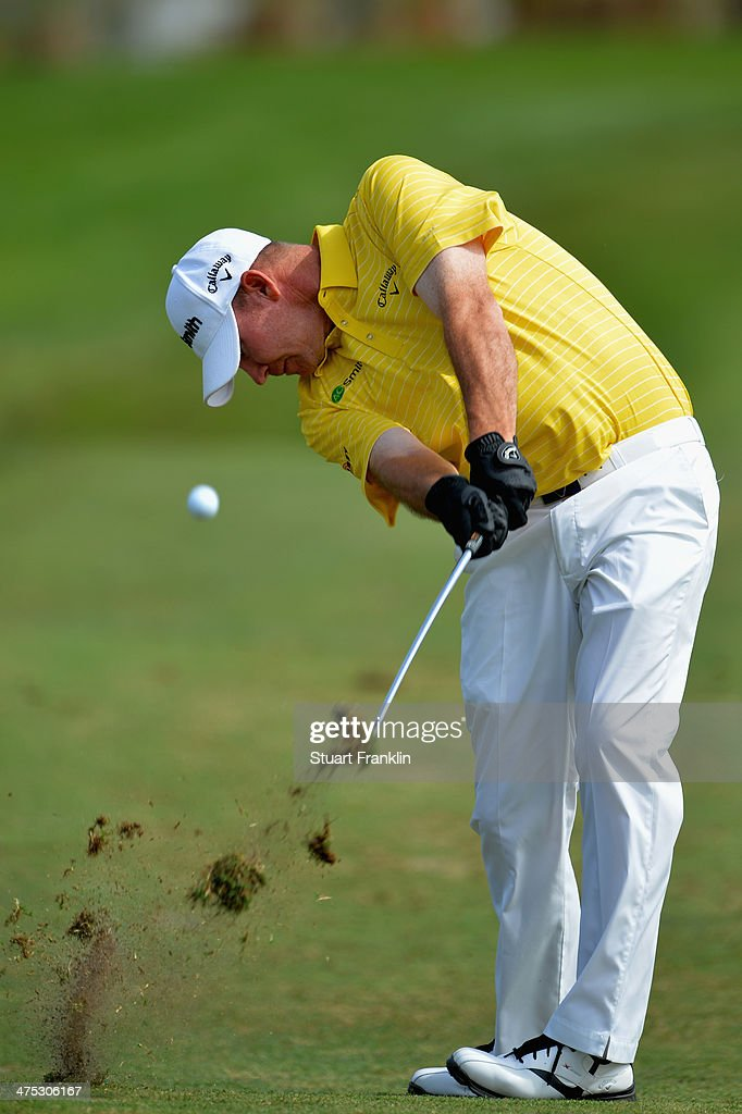 Tommy Gainey plays a shot during the first round of The Honda Classic at PGA National Resort and Spa on February 27 2014 in Palm Beach Gardens Florida