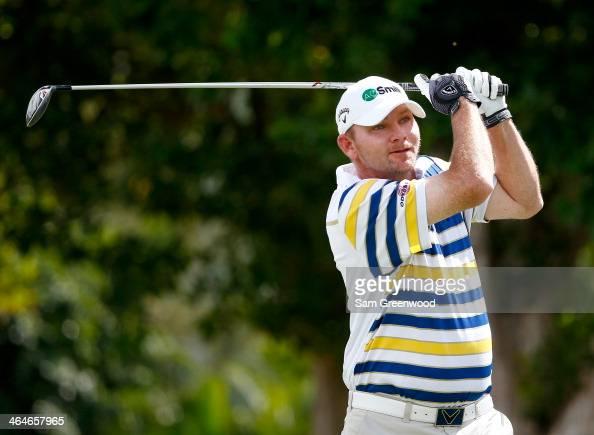 Tommy Gainey plays a shot during the second round of the Sony Open in Hawaii at Waialae Country Club on January 10 2014 in Honolulu Hawaii