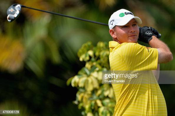 Tommy Gainey plays a shot on the 7th hole during the first round of The Honda Classic at PGA National Resort and Spa on February 27 2014 in Palm...