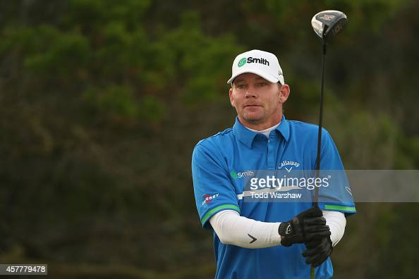 Tommy Gainey tees off on the second hole during the second round of The McGladrey Classic at Sea Island's Seaside Course on October 24 2014 in Sea...