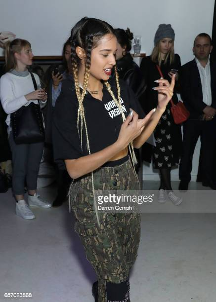 Tommy Genesis performs at the MercedesBenz #MBCOLLECTIVE Chapter 1 launch party with M I A on March 23 2017 in London United Kingdom