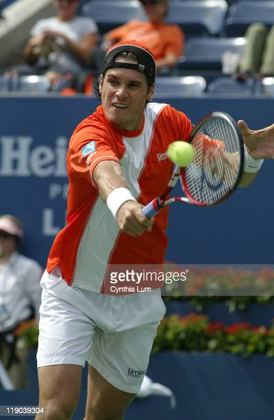 Tommy Haas during his fourth round match against Marat Safin at the 2006 US Open at the USTA Billie Jean King National Tennis Center in Flushing...