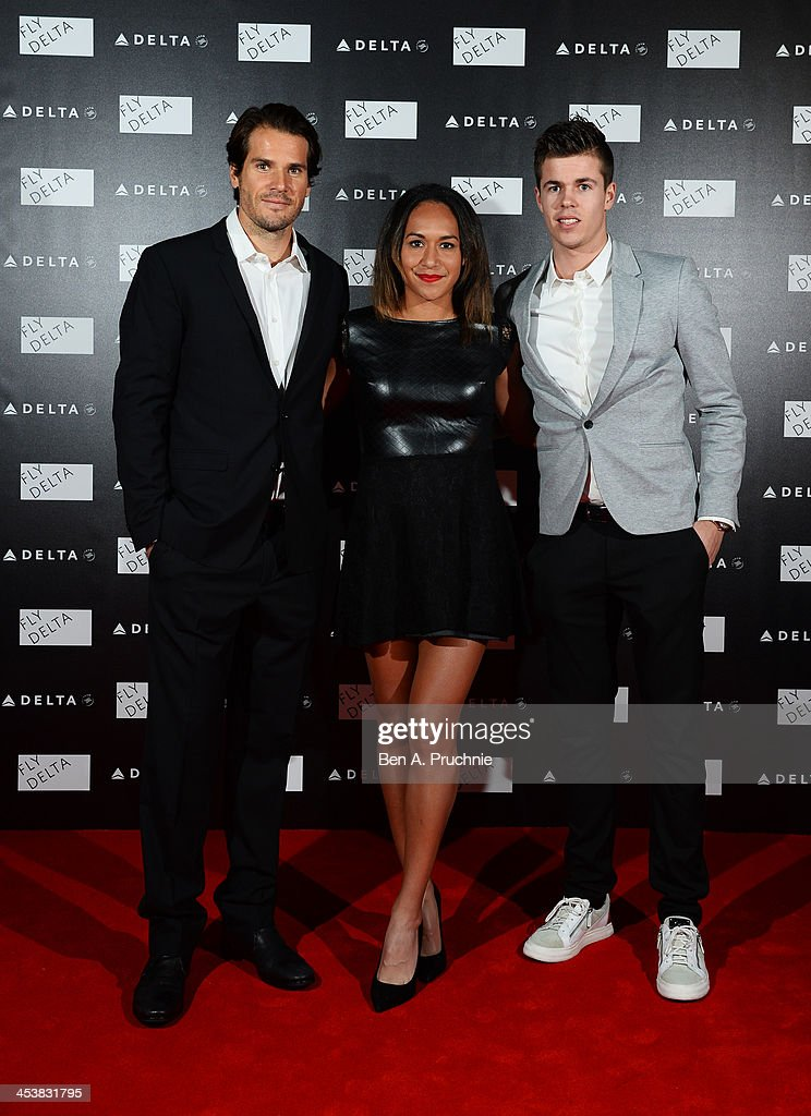 <a gi-track='captionPersonalityLinkClicked' href=/galleries/search?phrase=Tommy+Haas&family=editorial&specificpeople=171956 ng-click='$event.stopPropagation()'>Tommy Haas</a>, <a gi-track='captionPersonalityLinkClicked' href=/galleries/search?phrase=Heather+Watson&family=editorial&specificpeople=5418928 ng-click='$event.stopPropagation()'>Heather Watson</a> and <a gi-track='captionPersonalityLinkClicked' href=/galleries/search?phrase=Marco+van+Ginkel&family=editorial&specificpeople=8048333 ng-click='$event.stopPropagation()'>Marco van Ginkel</a> attend Delta Air Lines Presents A Night Under The Bridge at Stamford Bridge on December 5, 2013 in London, England.
