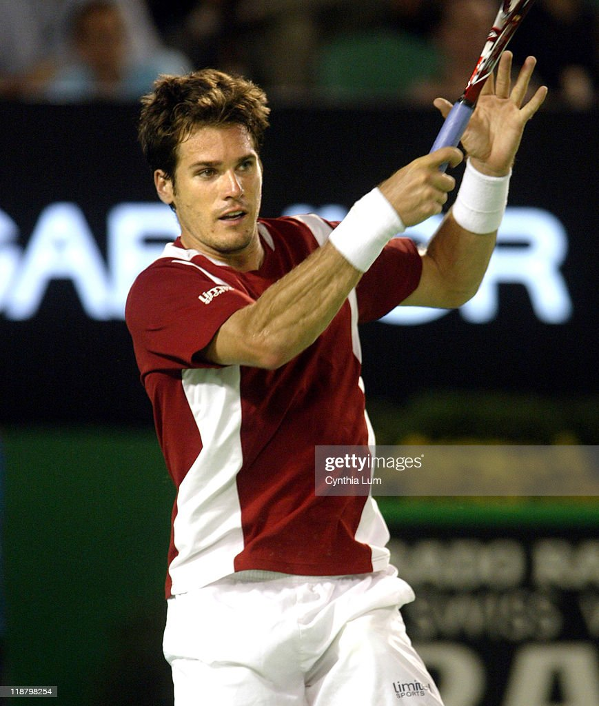 Tommy Haas in action as he defeats Peter Luczak 46 63 64 64 in the third round of the Australian Open Melbourne Australia on January 21 2006