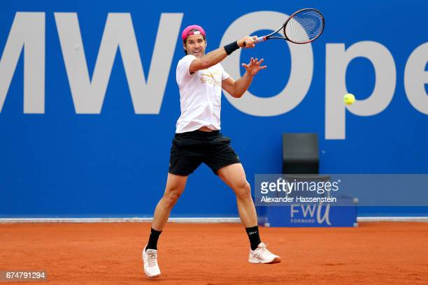 Tommy Haas of Germany during a training session for the 102 BMW Open by FWU at Iphitos tennis club on April 29 2017 in Munich Germany