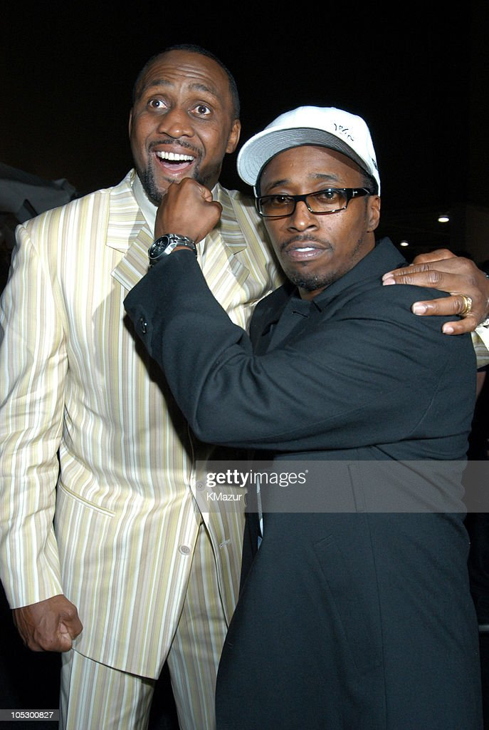 Tommy Hearns and Eddie Griffin during 2003 Radio Music Awards - Arrivals and Backstage at The Aladdin Hotel and Casino in Las Vegas, Nevada, United States.