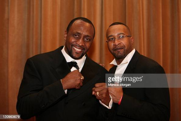 Tommy Hearns and Milton McCory during 11th Urban Wheel Awards at Max Fisher Theater in Detroit Michigan United States
