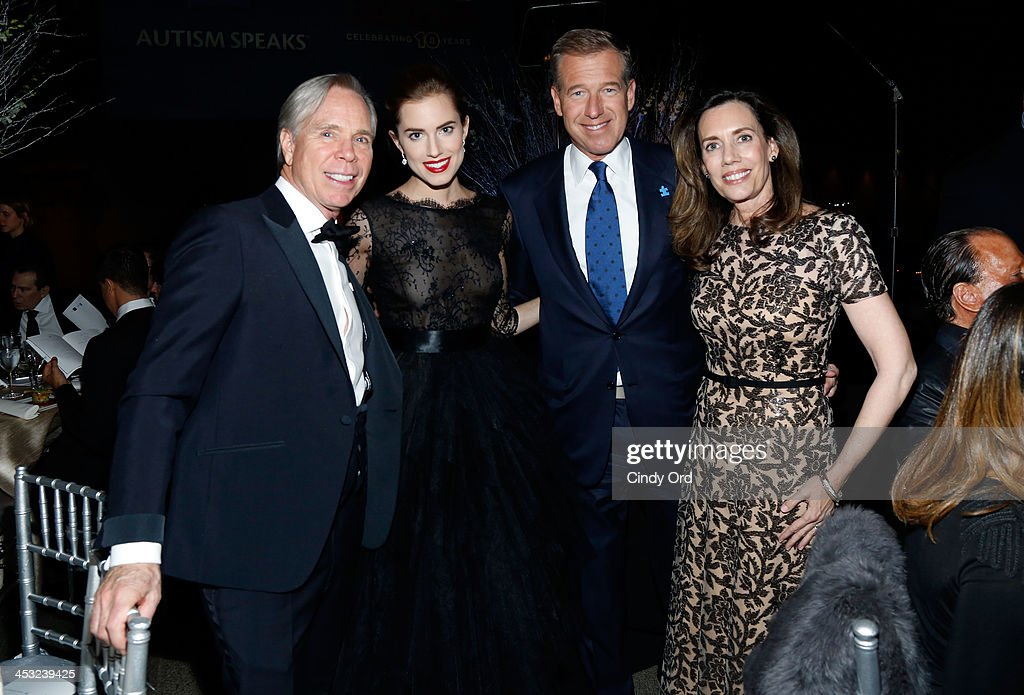 Tommy Hilfiger, <a gi-track='captionPersonalityLinkClicked' href=/galleries/search?phrase=Allison+Williams+-+Actress&family=editorial&specificpeople=594198 ng-click='$event.stopPropagation()'>Allison Williams</a>, Brian Williams and Jane Stoddard Williams attend the Winter Ball for Autism at Metropolitan Museum of Art on December 2, 2013 in New York City.