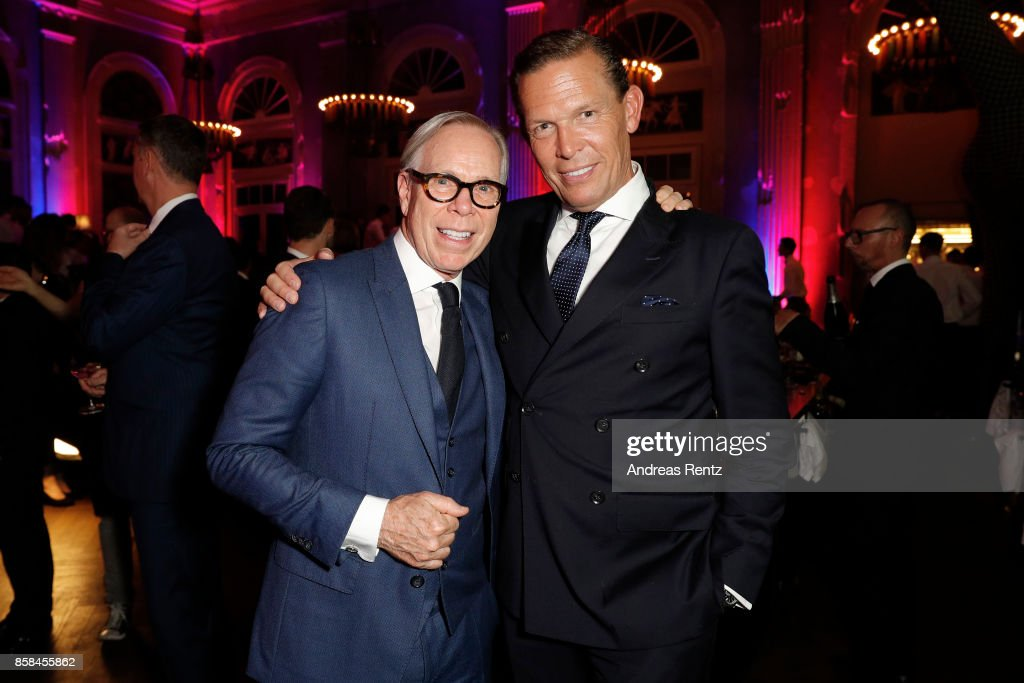 Tommy Hilfiger and CEO Tommy Hilfiger and PVH Europe Daniel Grieder attend the Tommy Hilfiger VIP Dinner in celebration of the 13th Zurich Film Festival on October 6, 2017 in Zurich, Switzerland.