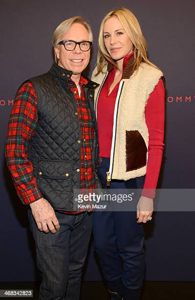 Tommy Hilfiger and Dee Hilfiger backstage at Tommy Hilfiger Presents Fall 2014 Women's Collection on February 10 2014 in New York United States