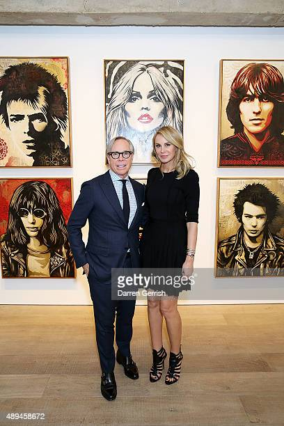 Tommy Hilfiger and Dee Ocleppo attend as Tommy Hilfiger and Jeffrey Deitch present 'Rock Style' at the S2 Gallery during London Fashion Week...