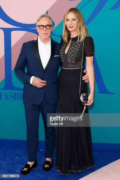 Tommy Hilfiger and Dee Ocleppo attend the 2017 CFDA Fashion Awards at Hammerstein Ballroom on June 5 2017 in New York City