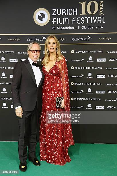 Tommy Hilfiger and Dee Ocleppo attend the Award Night Green Carpet Arrivals during Day 10 of Zurich Film Festival 2014 on October 4 2014 in Zurich...