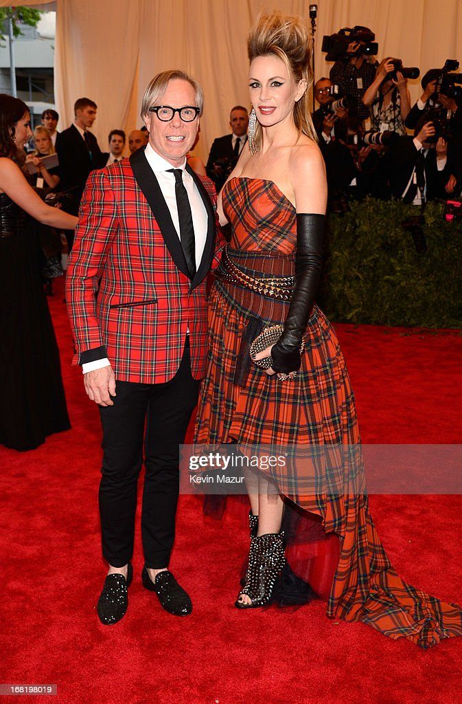 Tommy Hilfiger and Dee Ocleppo attend the Costume Institute Gala for the 'PUNK: Chaos to Couture' exhibition at the Metropolitan Museum of Art on May 6, 2013 in New York City.