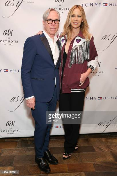 Tommy Hilfiger and Dee Ocleppo Hilfiger attend 'Shot The PsychoSpiritual Mantra of Rock' screening at The Roxy Hotel on May 16 2017 in New York City