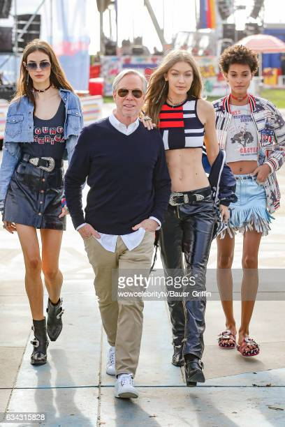 Tommy Hilfiger and Gigi Hadid are seen on February 08 2017 in Los Angeles California