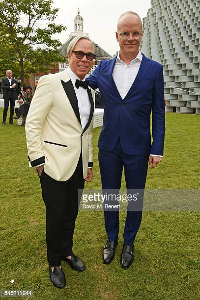 Tommy Hilfiger and HansUlrich Obrist attend The Serpentine Summer Party cohosted by Tommy Hilfiger on July 6 2016 in London England