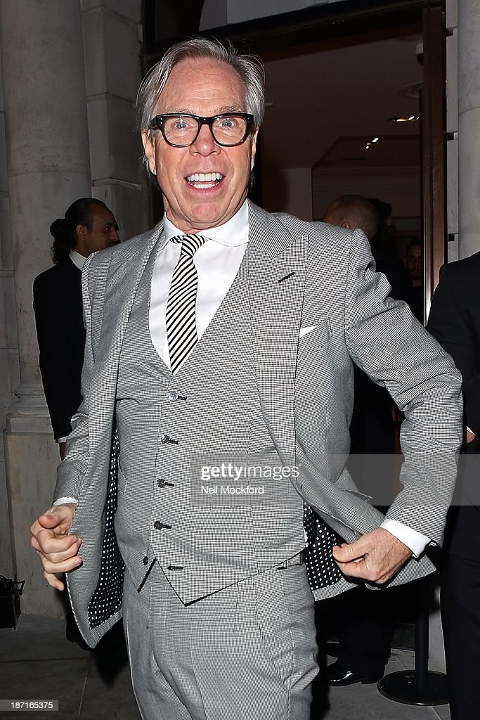 Tommy Hilfiger at the UK flagship store launch of J. Crew on November 6, 2013 in London, England.