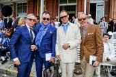 Tommy Hilfiger David Furnish Adrian Gill and Patrick Cox attend the Savile Row St James's Presentation during the London Collections MEN SS14 at...