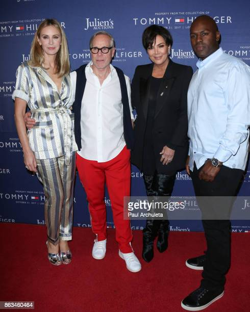Tommy Hilfiger Dee Ocleppo Kris Jenner and Corey Gamble attend the Tommy Hilfiger VIP reception and Julien's Auctions on October 19 2017 in Los...