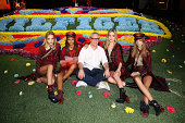 Tommy Hilfiger Georgia May Jagger and models pose backstage at Tommy Hilfiger Women's fashion show during MercedesBenz Fashion Week Spring 2015 at...