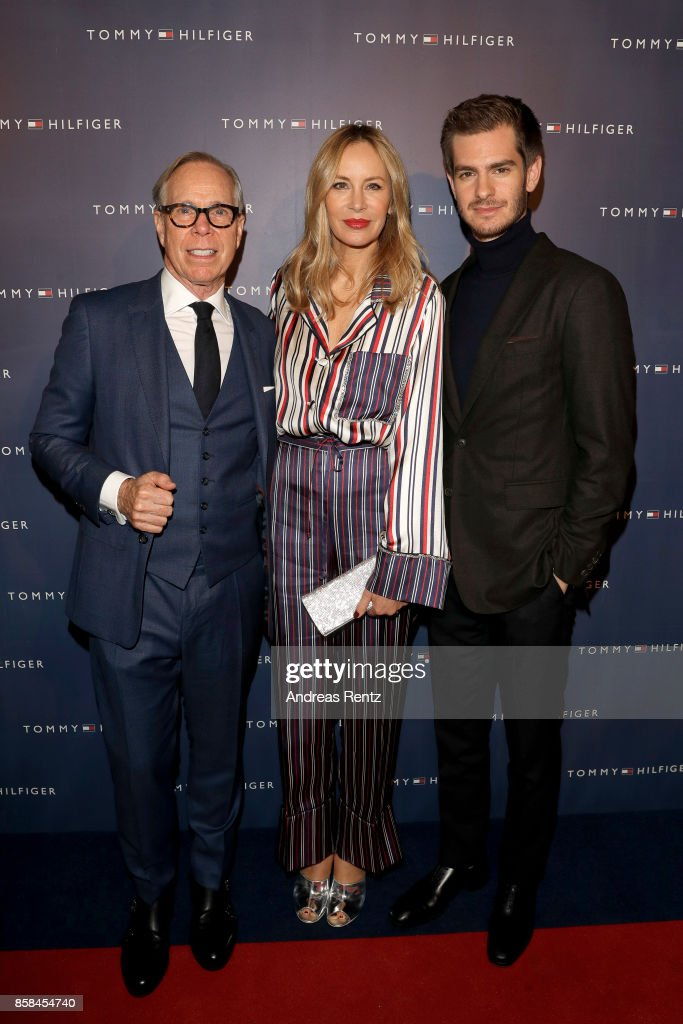 Tommy Hilfiger, his wife Dee Hilfiger and Andrew Garfield attend the Tommy Hilfiger VIP Dinner in celebration of the 13th Zurich Film Festival on October 6, 2017 in Zurich, Switzerland.