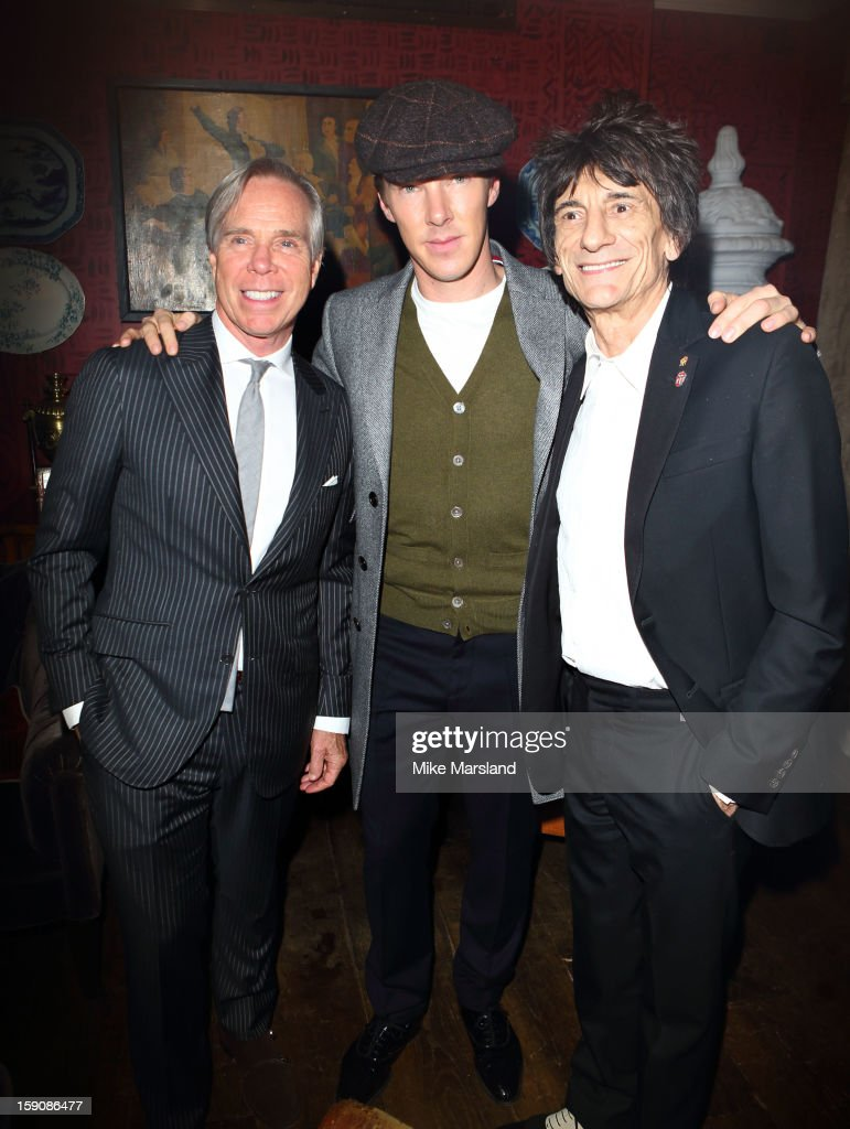 Tommy Hilfiger, Ronnie Wood and <a gi-track='captionPersonalityLinkClicked' href=/galleries/search?phrase=Benedict+Cumberbatch&family=editorial&specificpeople=2487879 ng-click='$event.stopPropagation()'>Benedict Cumberbatch</a> attend the Tommy Hilfiger & Esquire event at the London Collections: MEN AW13 at on January 7, 2013 in London, England.