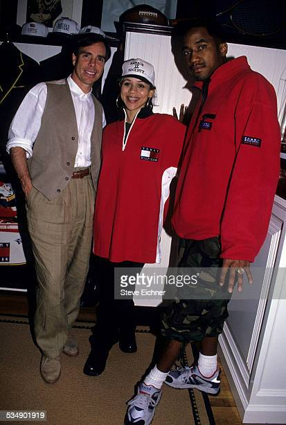 Tommy Hilfiger Rosie Perez and A Tribe Called Quest's QTip At Tommy Hilfiger office New York May 1994