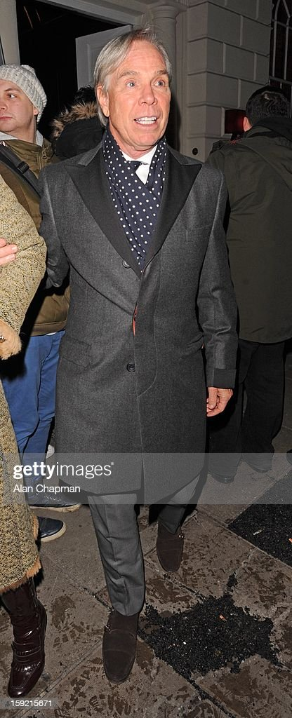 Tommy Hilfiger sighting at Sketch on January 9, 2013 in London, England.