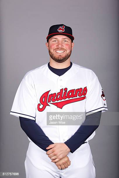 Tommy Hunter of the Indians poses during Photo Day on Saturday February 27 2016 at Goodyear Ballpark in Goodyear Arizona
