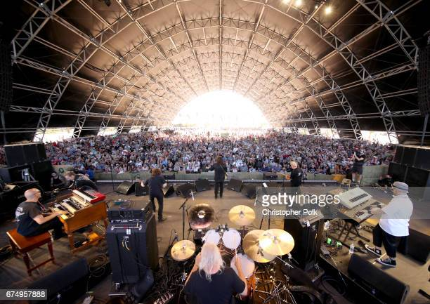Tommy James and the Shondelles perform on the Palomino Stage during day 2 of 2017 Stagecoach California's Country Music Festival at the Empire Polo...
