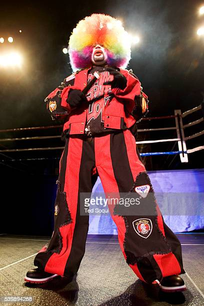 Tommy Johnson aka 'Tommy the Clown' is the father of Krumping and Clown dancing on stage during the Battlezone 2005 Krumping Competition held at the...