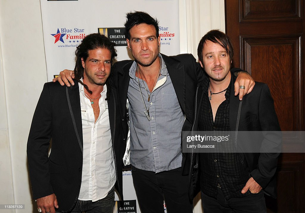Tommy Kende, Toby Rand and Dale Winters of Juke Cartel attend the Creative Coalition and Blue Star Families PSA premiere gala at American Red Cross on April 28, 2011 in Washington, DC.