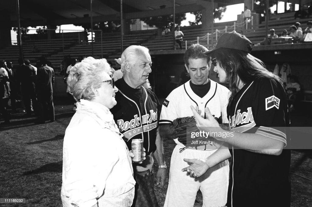 Tommy Lasorda and Ritchie Sambora during Rock N Jock Baseball