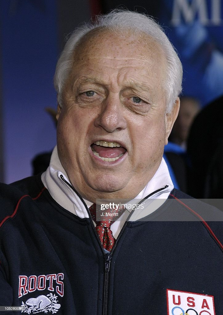 Tommy Lasorda during 'Miracle' Los Angeles Premiere at The El Capitan Theatre in Hollywood California United States